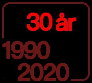 30 årslogga vit